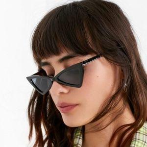 Black Funky Cat Eye Glasses NWOT